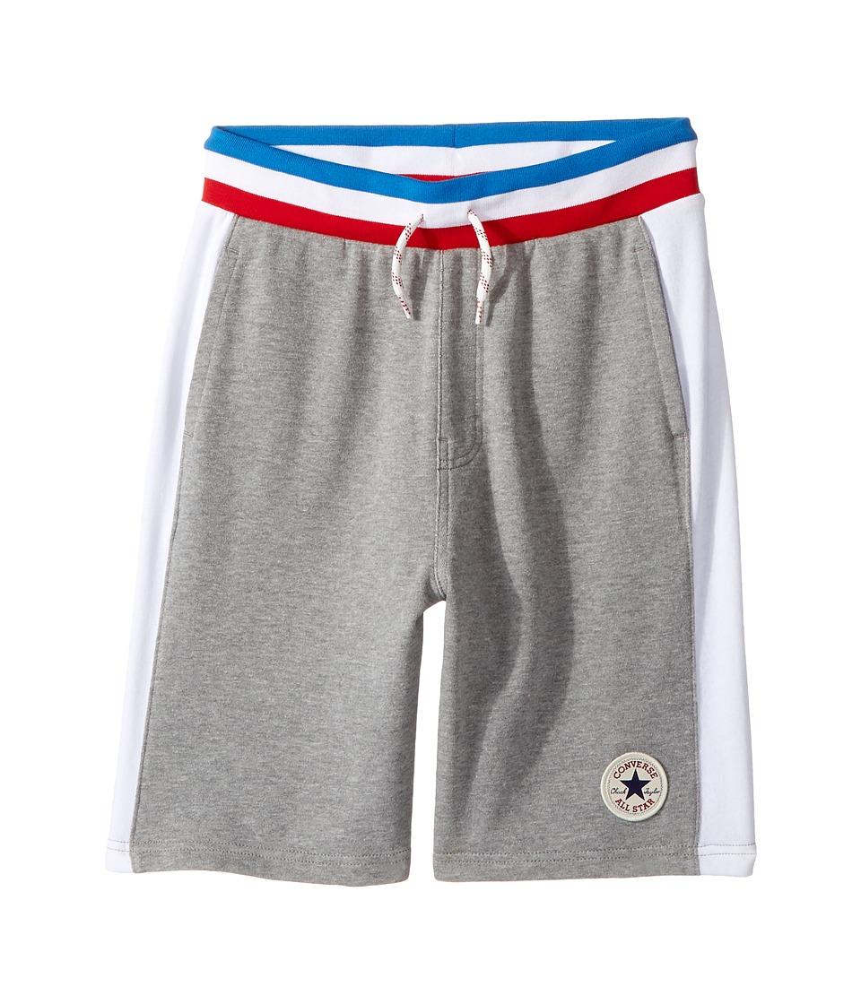 Converse Kids - Color Blocked Shorts (Big Kids) (Dark Grey Heather) Boy's Shorts