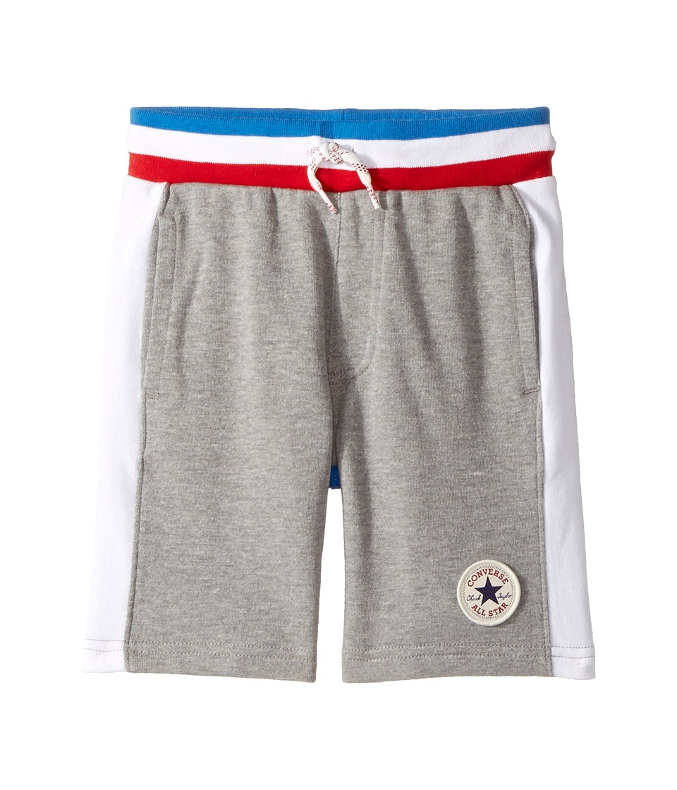 Converse Kids - Color Blocked Shorts (Toddler/Little Kids) (Dark Grey Heather) Boy's Shorts