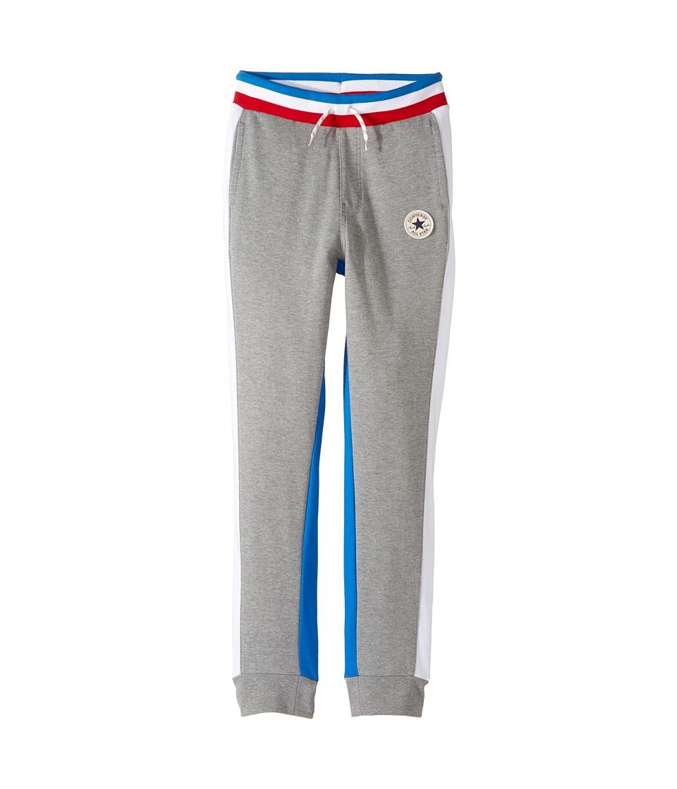 Converse Kids - Color Blocked Joggers (Big Kids) (Dark Grey Heather) Boy's Casual Pants