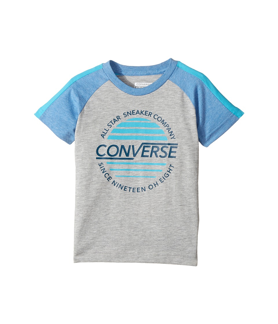 Converse Kids - Retro Raglan Top (Toddler/Little Kids) (Dark Grey Heather) Boy's Clothing