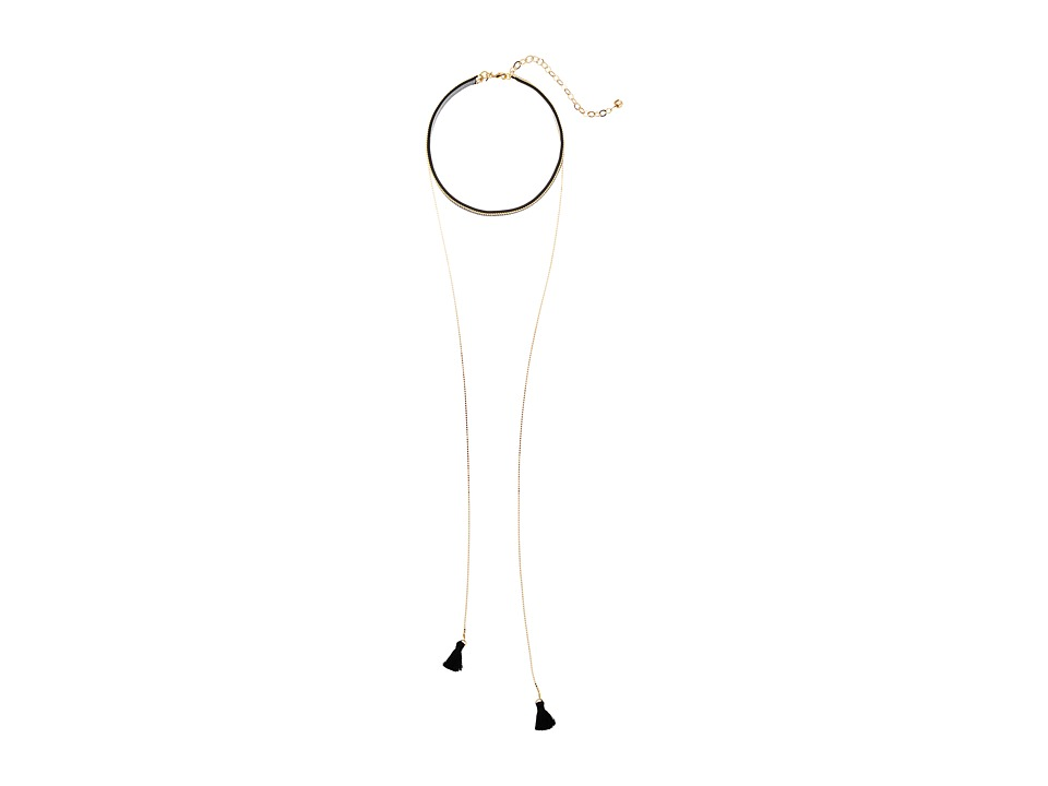 Vanessa Mooney - The Debbie Choker Necklace (Gold/Black) Necklace