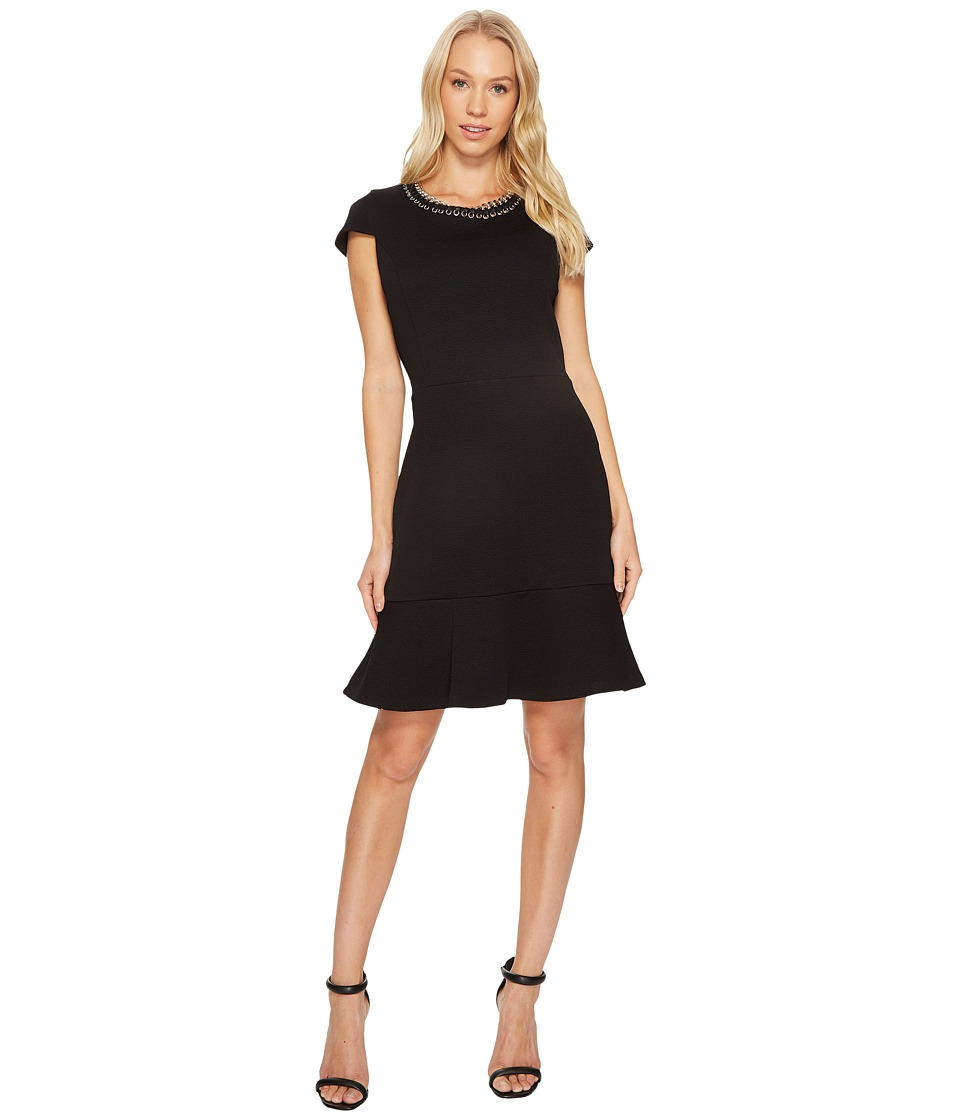 MICHAEL Michael Kors Grommet Chain Laced Dress (Black) Women