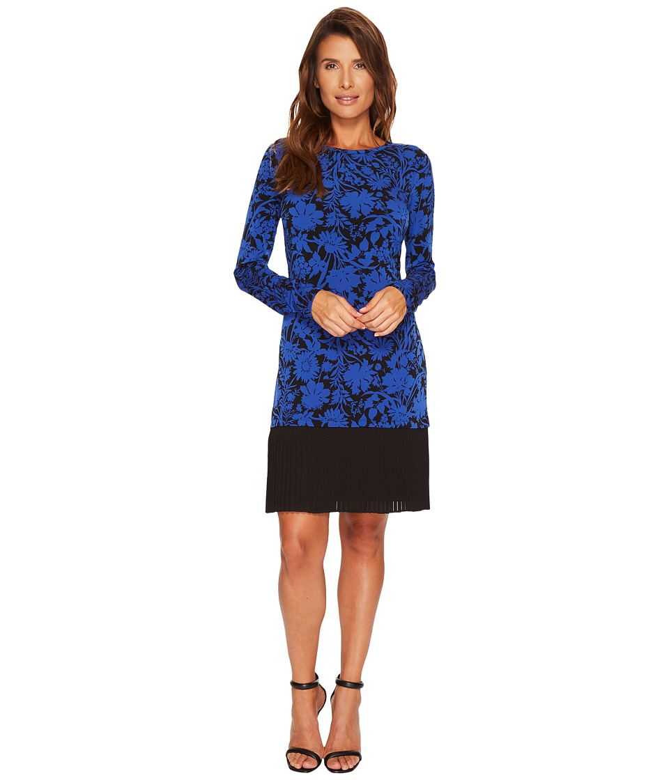 MICHAEL Michael Kors Gardenia Dress with Pleat Hem (Royal) Women