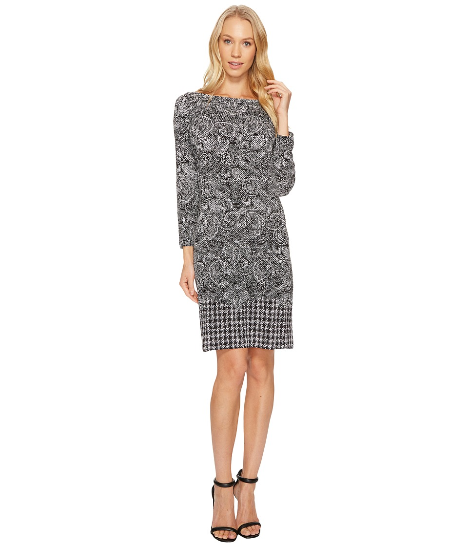 MICHAEL Michael Kors Paisley Houndstooth Border Dress