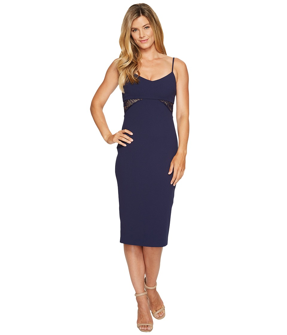 MICHAEL Michael Kors Shirred Panel Strappy Dress (True Navy) Women