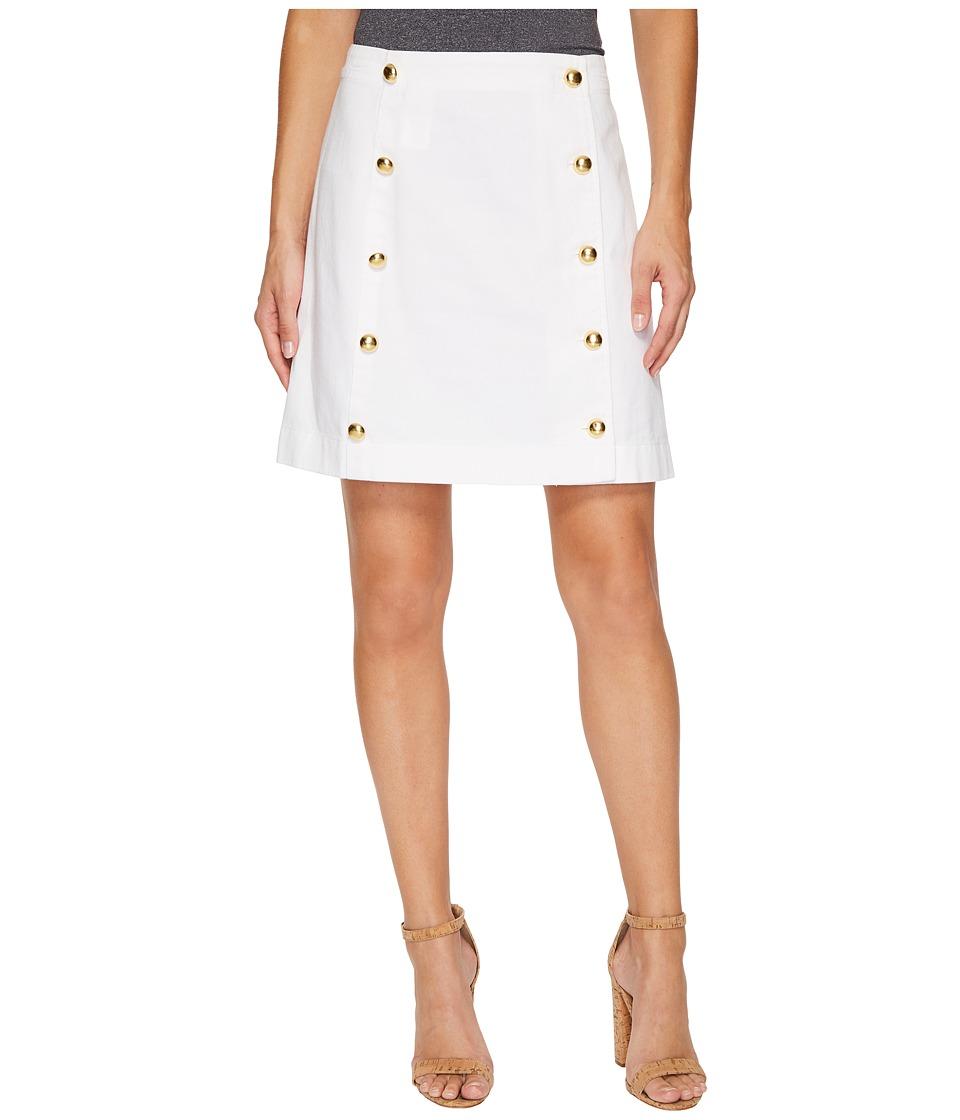 MICHAEL Michael Kors Button Detail Mini Skirt (White) Women