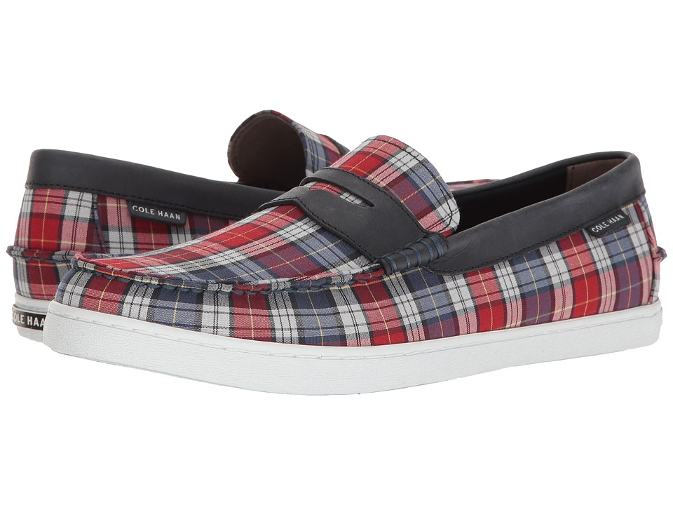 Cole Haan - Nantucket Loafer II (Red/Blue Madras/Navy/Ink Leather) Men's Slip on Shoes