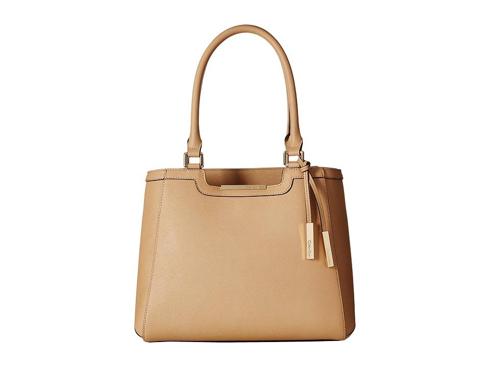 Calvin Klein - Key Item Saffiano Tote (Nude) Tote Handbags