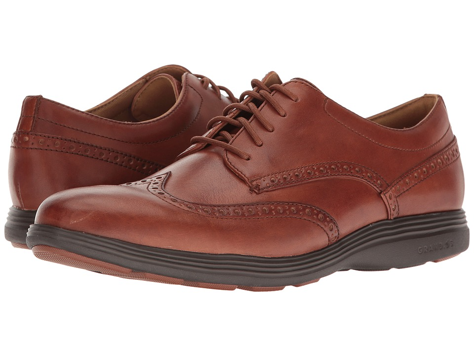 Cole Haan - Grand Tour Wing Ox (Woodbury/Java) Men's Lace Up Wing Tip Shoes
