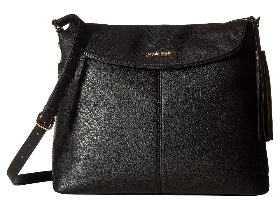 Calvin Klein - Casual Pebble Messenger (Black) Messenger Bags