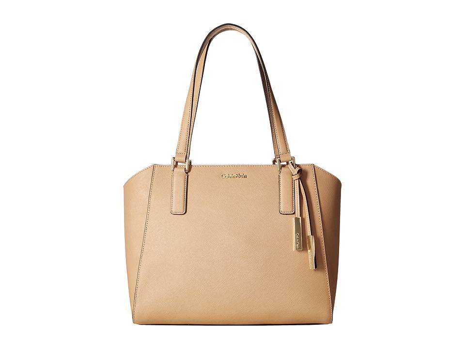 Calvin Klein - Key Item Saffiano Tote (Nude 2) Tote Handbags