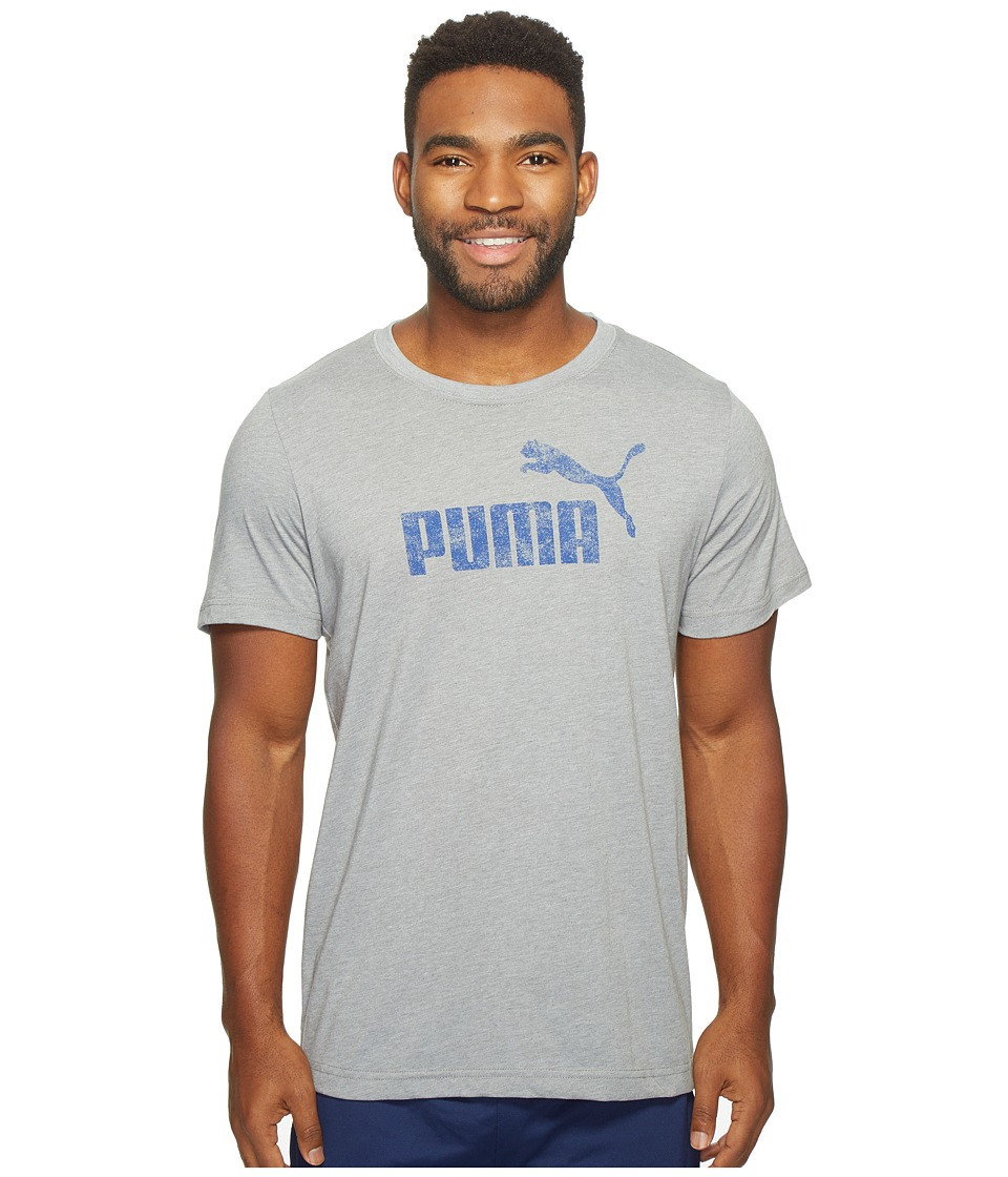 PUMA #1 Distress Tee (Gray) Men