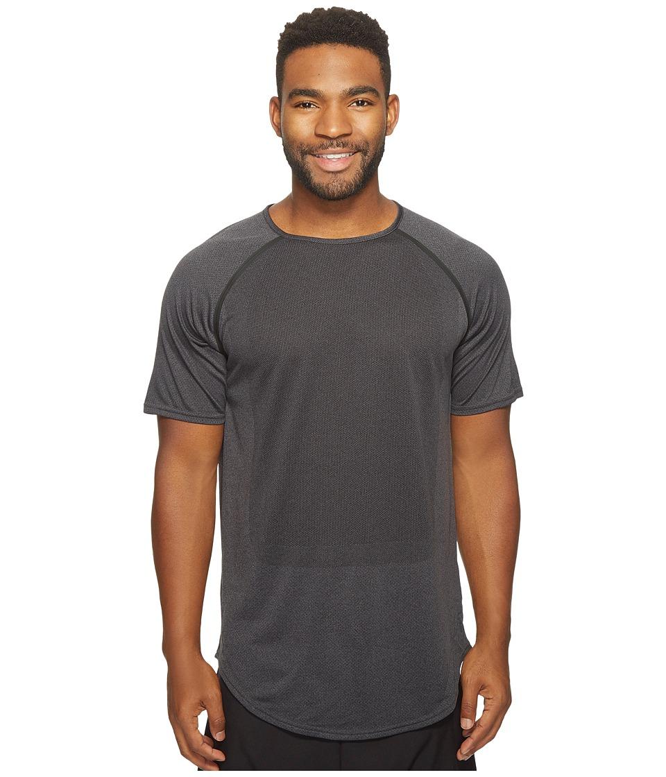 PUMA - Stampd Raglan Sleeve Shirt (Black) Men's Long Sleeve Pullover
