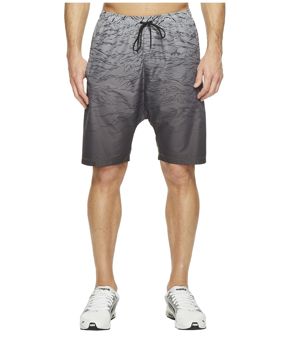PUMA - Stampd Running Techy Shorts (Black) Men's Shorts