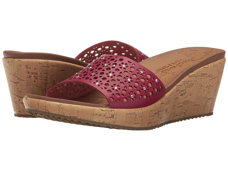 SKECHERS - Beverlee - Party Hopper (Wine) Women's Shoes