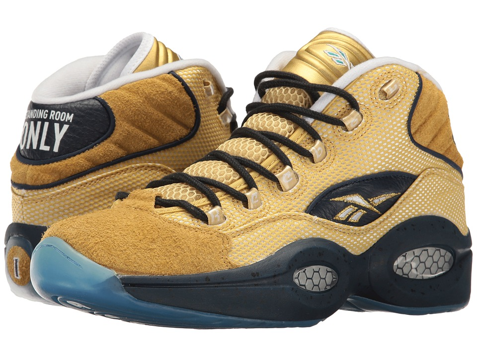 Reebok - Question Mid EBC (Matte Gold/Collegiate Navy) Men's Shoes