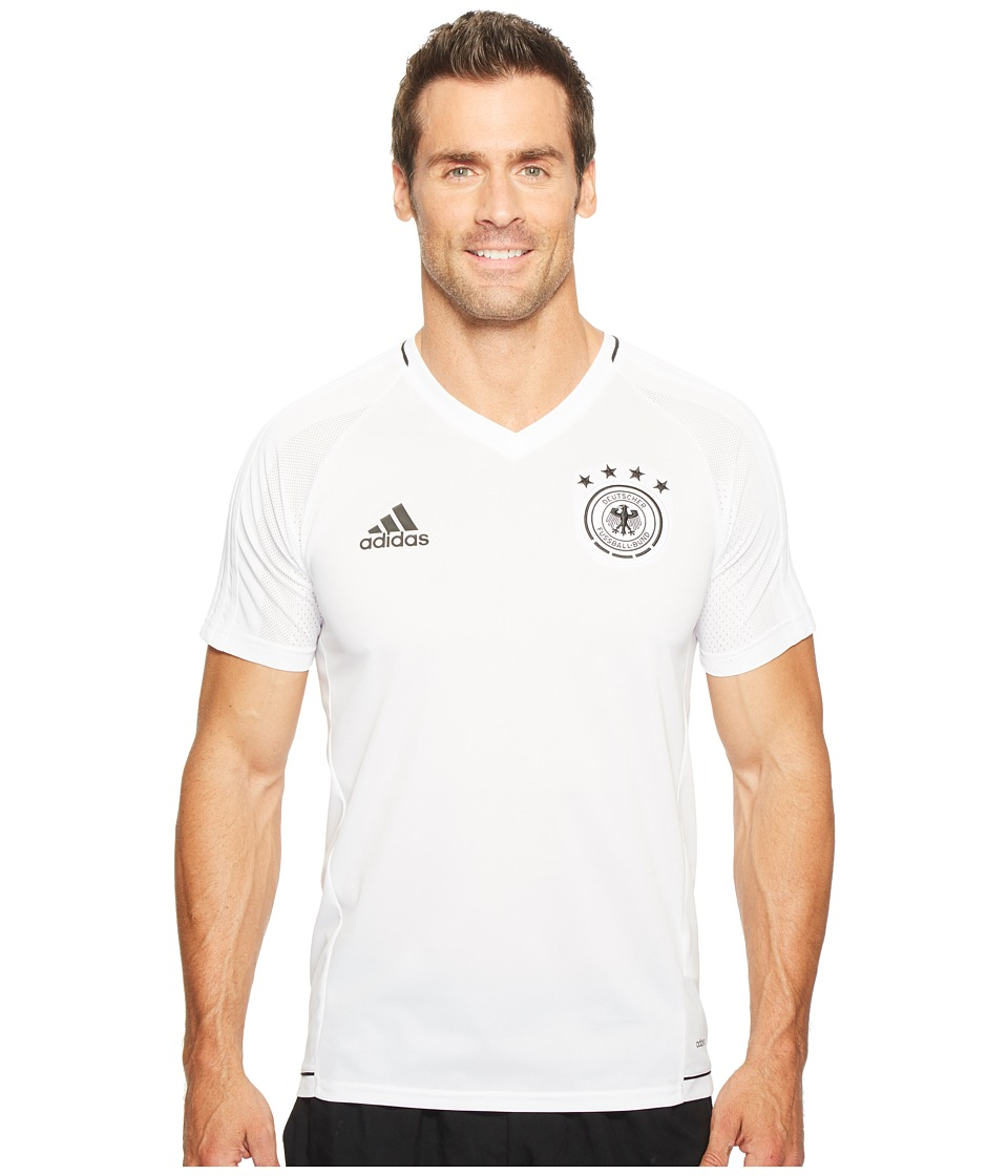 adidas - Germany Replica Training Jersey (White/Black) Men's Clothing