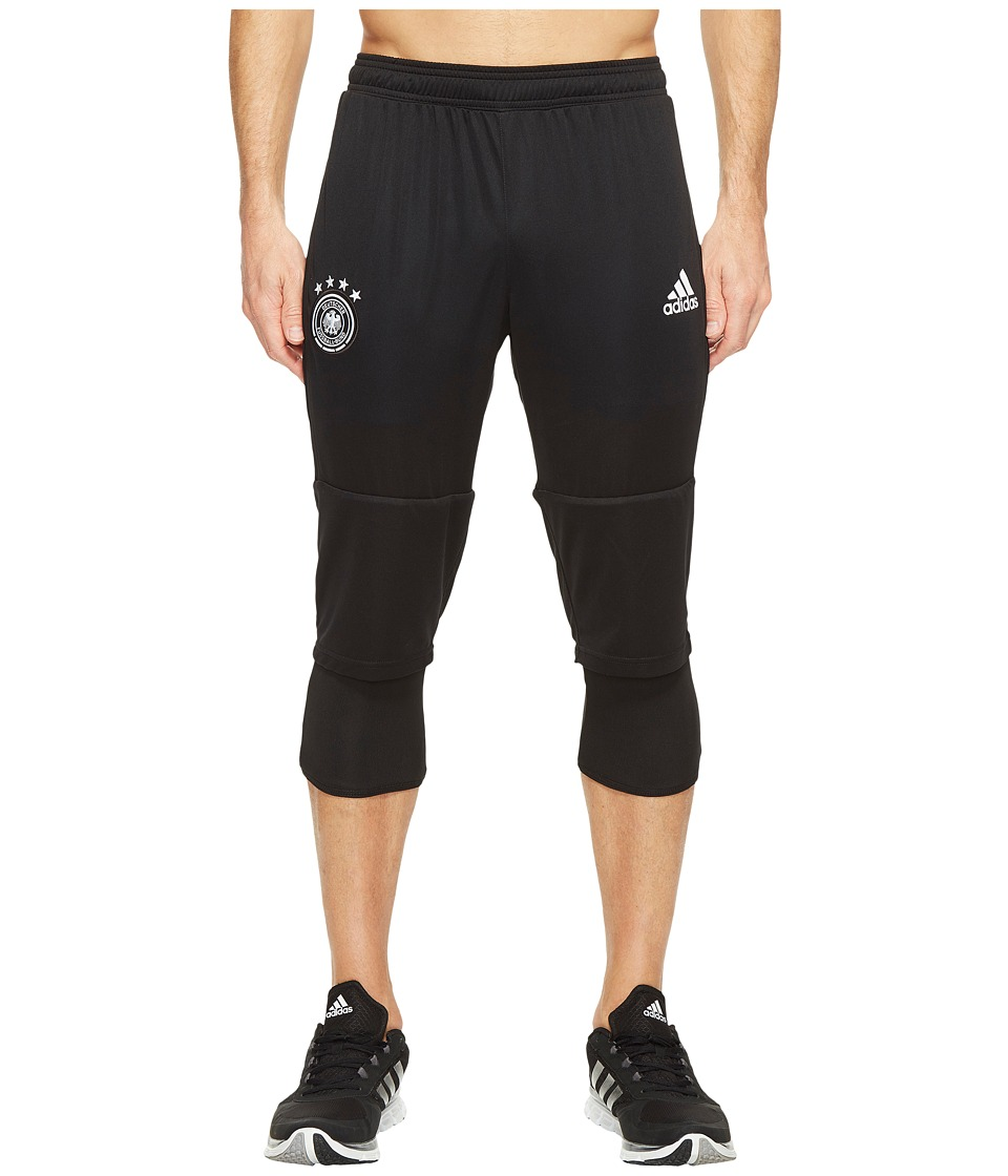 adidas - Germany 3/4 Training Pants (Black/White) Men's Casual Pants