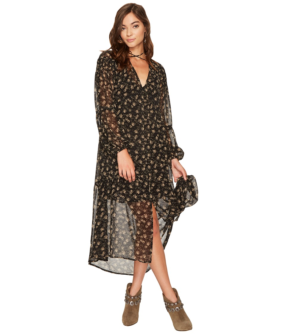 ASTR the Label Ambrosia Dress (Black Tan Floral) Women