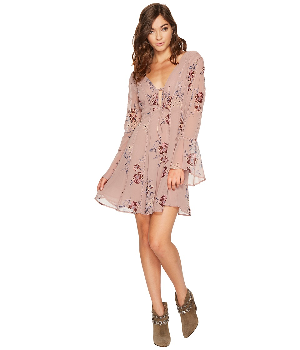 ASTR the Label Crystal Dress (Mauve Multi Floral) Women