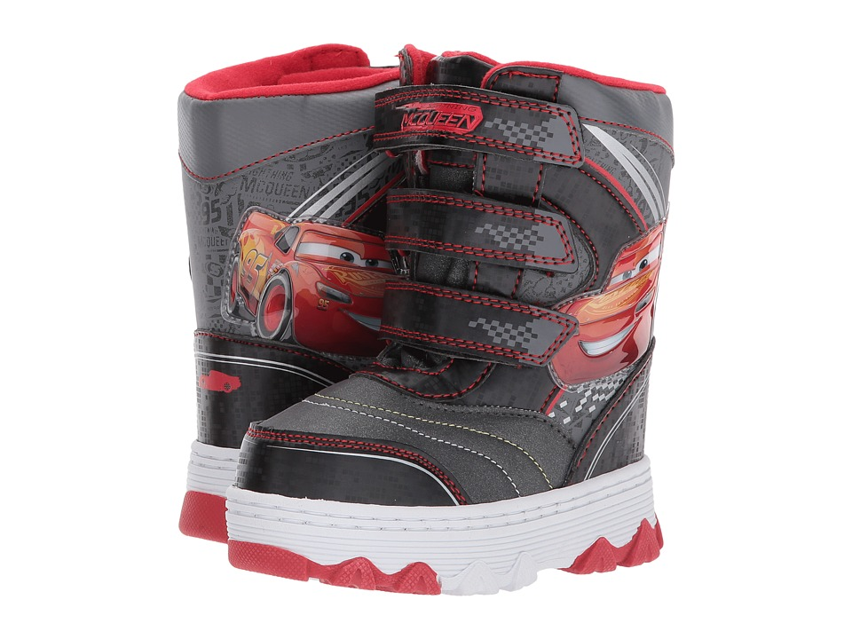 Josmo Kids Cars Snow Boot (Toddler/Little Kid) (Grey/Red) Boys Shoes