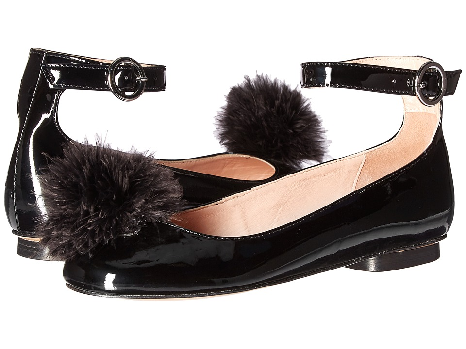Boutique Moschino - Pom Pom Flat (Black) Women's Shoes