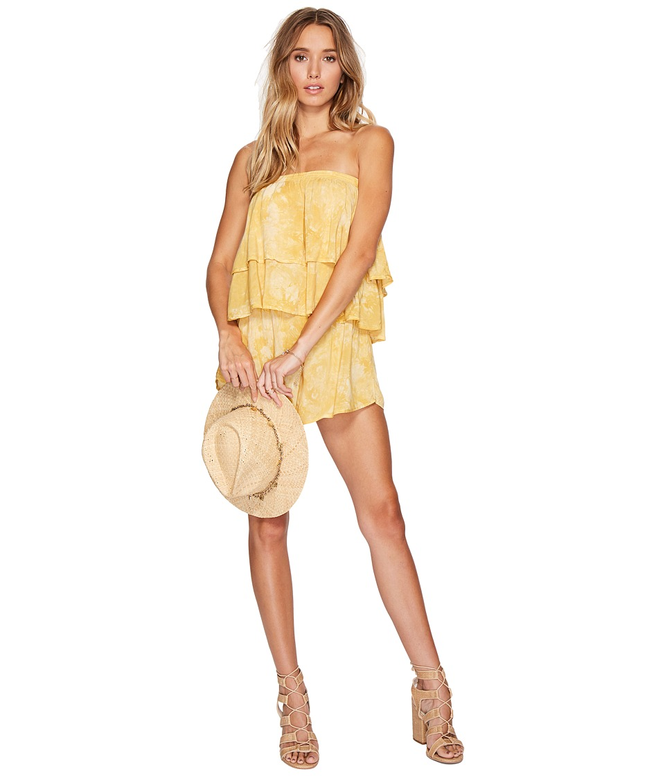 Blue Life - Marion Tiered Romper (Gold Coast) Women's Jumpsuit & Rompers One Piece