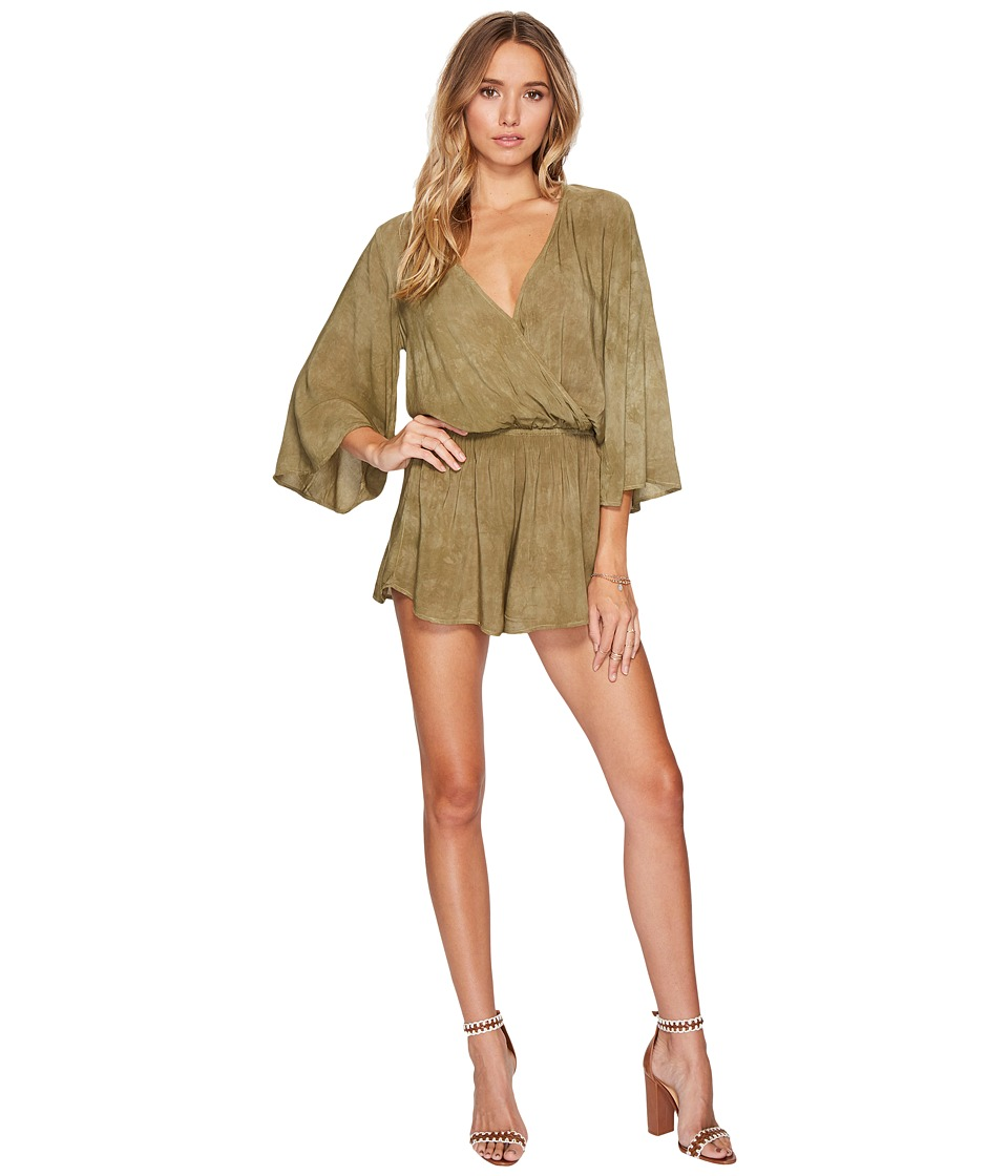 Blue Life - Wild and Free Romper (Spanish Olive) Women's Jumpsuit & Rompers One Piece
