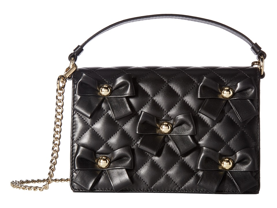 Boutique Moschino - Quilted Bow Bag (Black) Shoulder Handbags