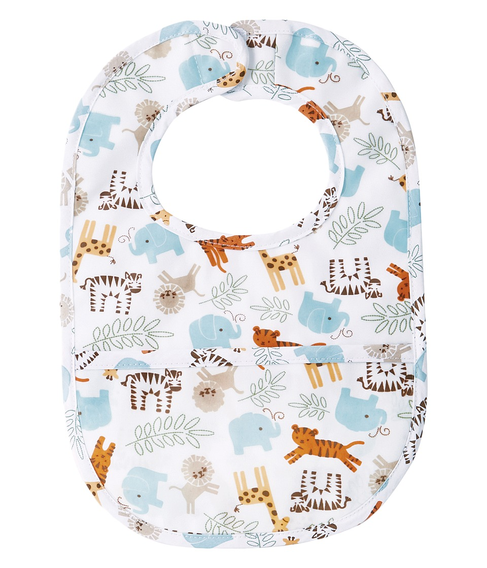 Mud Pie - Go Wild Animal Laminated Bib (Gray) Accessories Travel