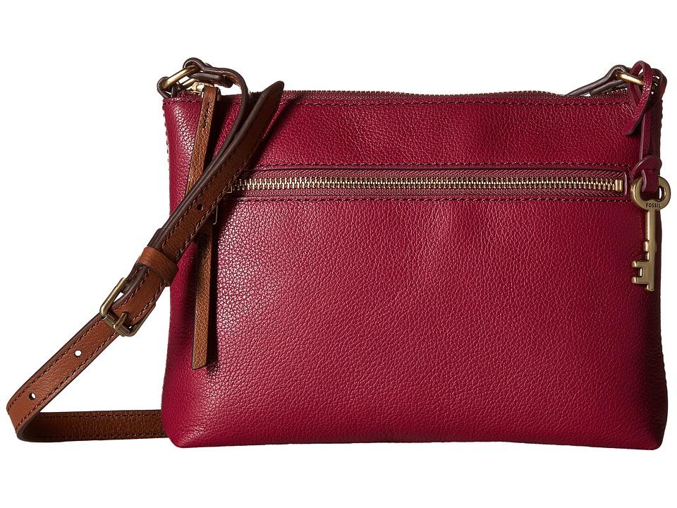 Fossil - Fiona Small Crossbody (Raspberry Wine) Cross Body Handbags