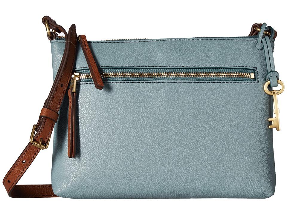 Fossil - Fiona Small Crossbody (Steel Blue) Cross Body Handbags
