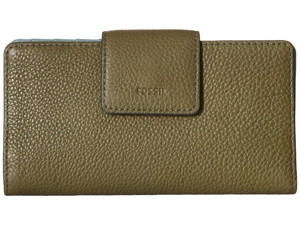 Fossil - Emma Tab Clutch RFID (Rosemary) Clutch Handbags