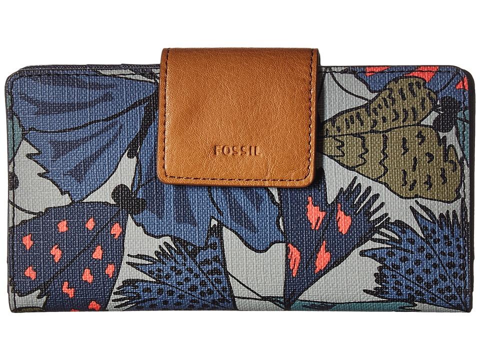Fossil - Emma Tab Clutch RFID (Grey Multi) Clutch Handbags