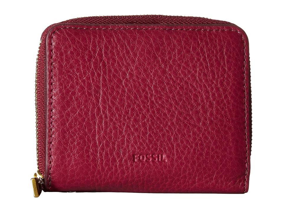 Fossil - Emma Mini Multi Wallet RFID (Raspberry Wine) Wallet Handbags