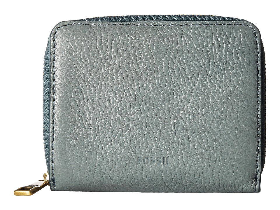 Fossil - Emma Mini Multi Wallet RFID (Steel Blue) Wallet Handbags
