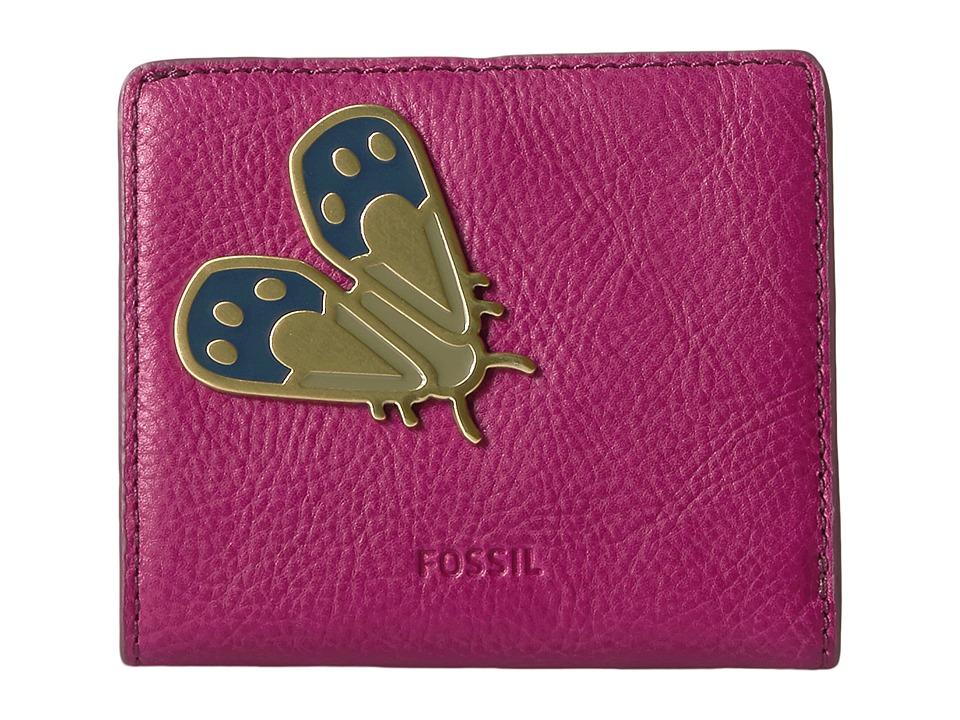 Fossil - Emma Mini Wallet RFID (Raspberry Wine 1) Wallet Handbags
