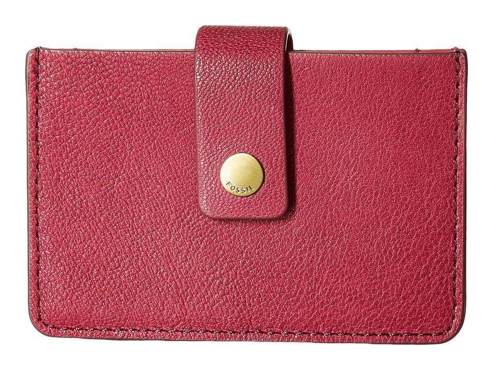 Fossil - Mini Tab Wallet (Raspberry Wine) Wallet
