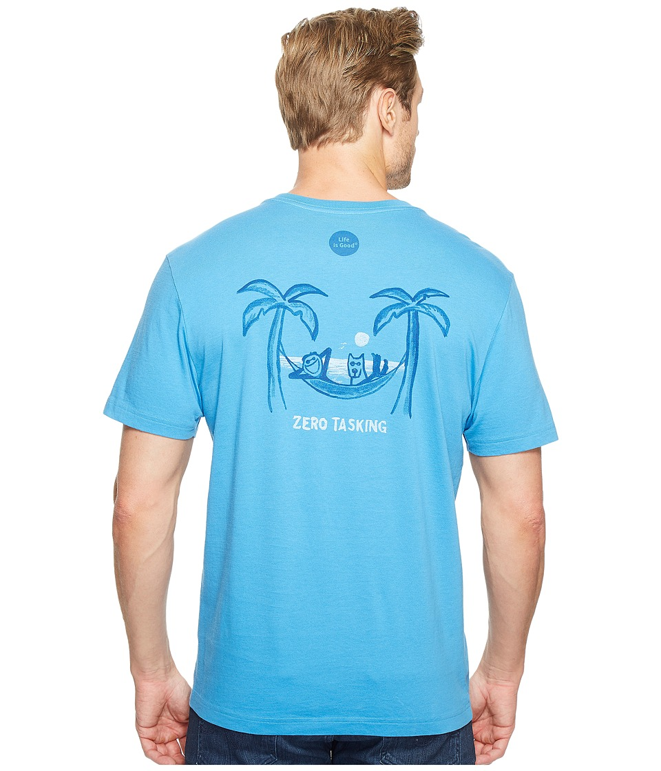 Life is Good - Zero Tasking Crusher Tee (Marina Blue) Men's T Shirt
