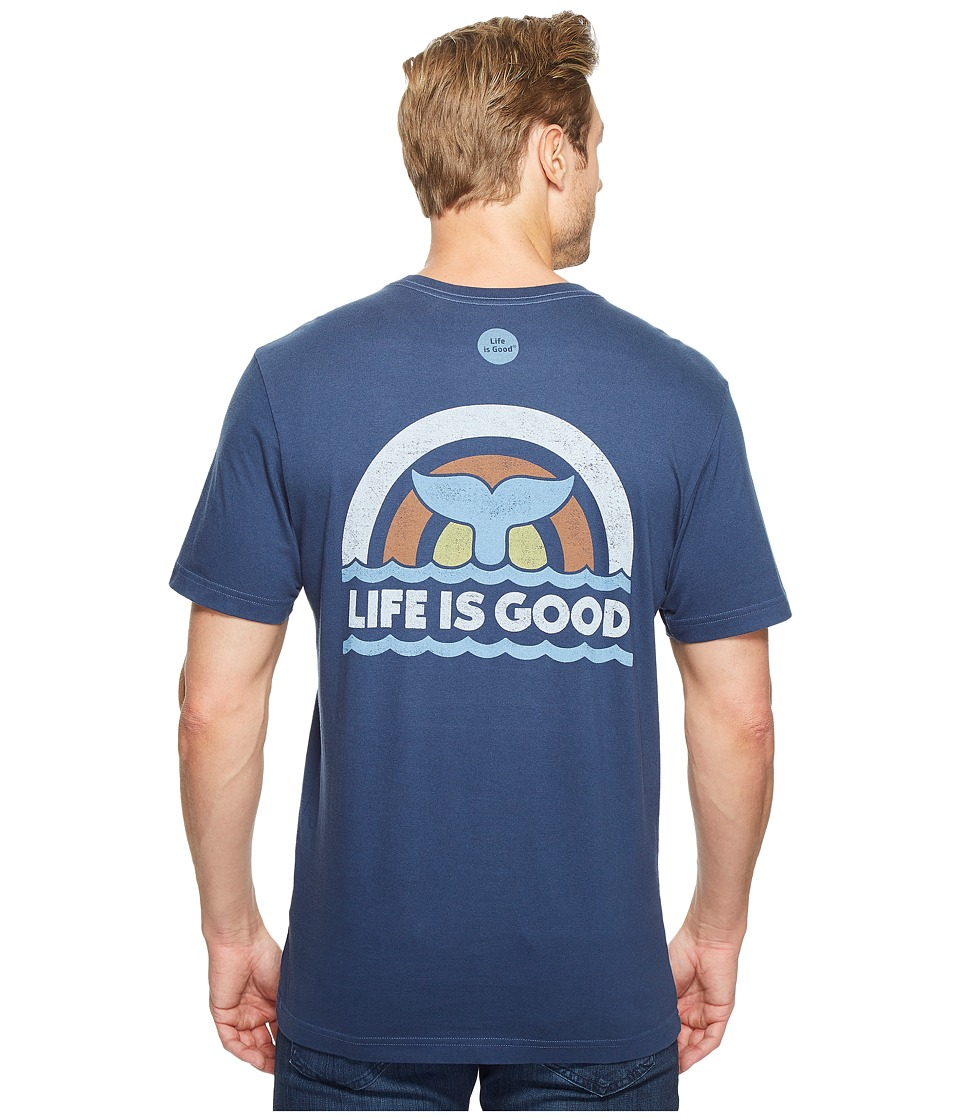 Life is Good - Whale Tail Crusher Tee (Darkest Blue) Men's T Shirt