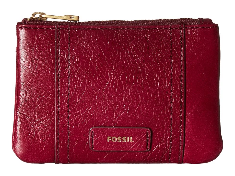 Fossil - Ellis Zip Coin (Raspberry Wine) Coin Purse