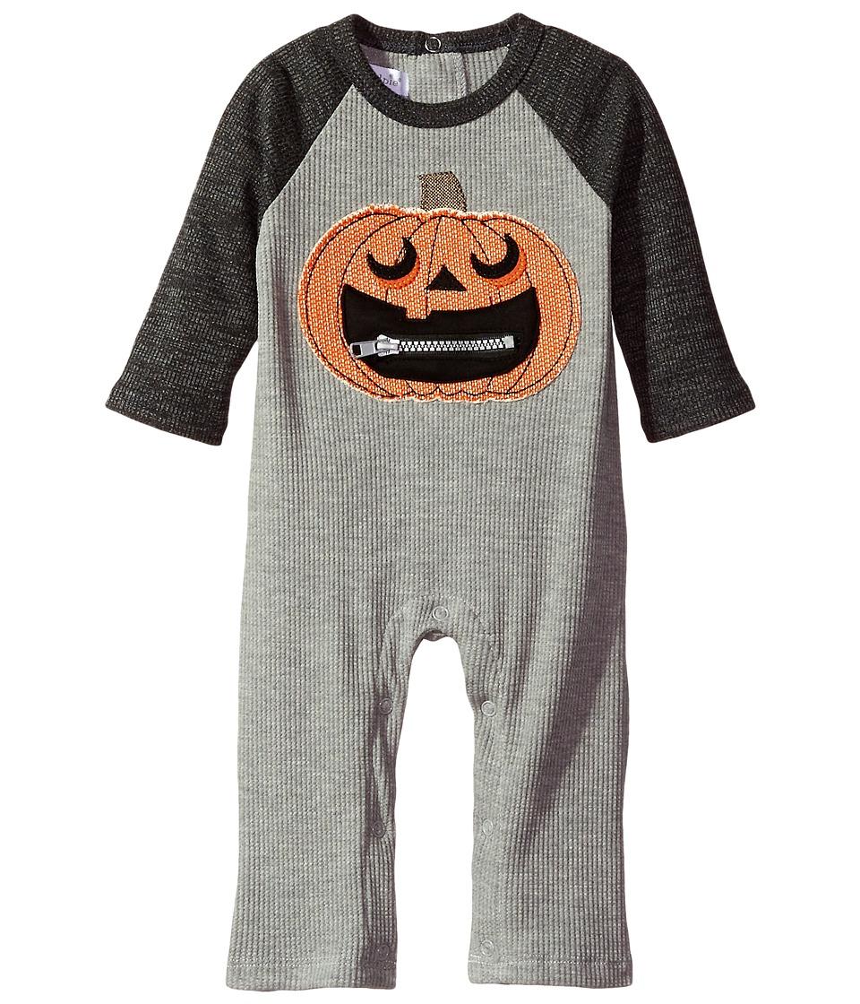 Mud Pie - Halloween Pumpkin One-Piece (Infant) (Orange) Boy's Jumpsuit & Rompers One Piece