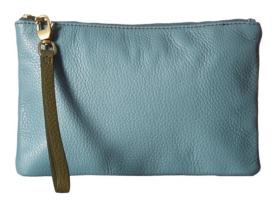 Fossil - RFID Wristlet (Steel Blue) Wristlet Handbags