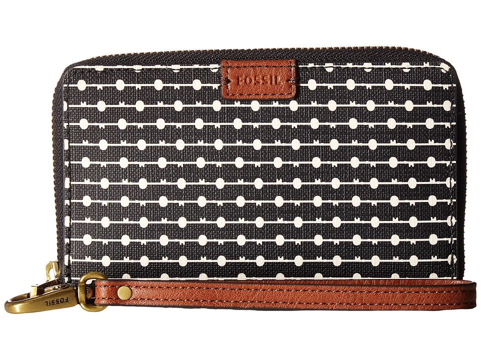 Fossil - Emma Smartphone Wristlet RFID (Black Stripe 1) Wristlet Handbags