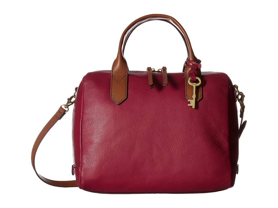 Fossil - Fiona Satchel (Raspberry Wine) Satchel Handbags