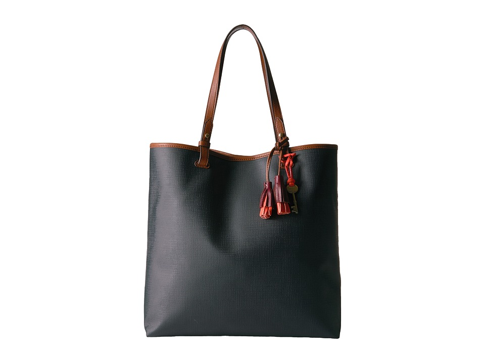 Fossil - Rachel North/South Tote (Black 1) Tote Handbags