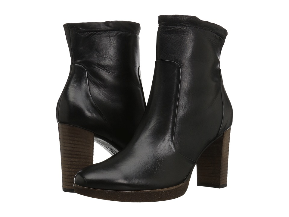 Paul Green Omega Boot (Black Leather) Women