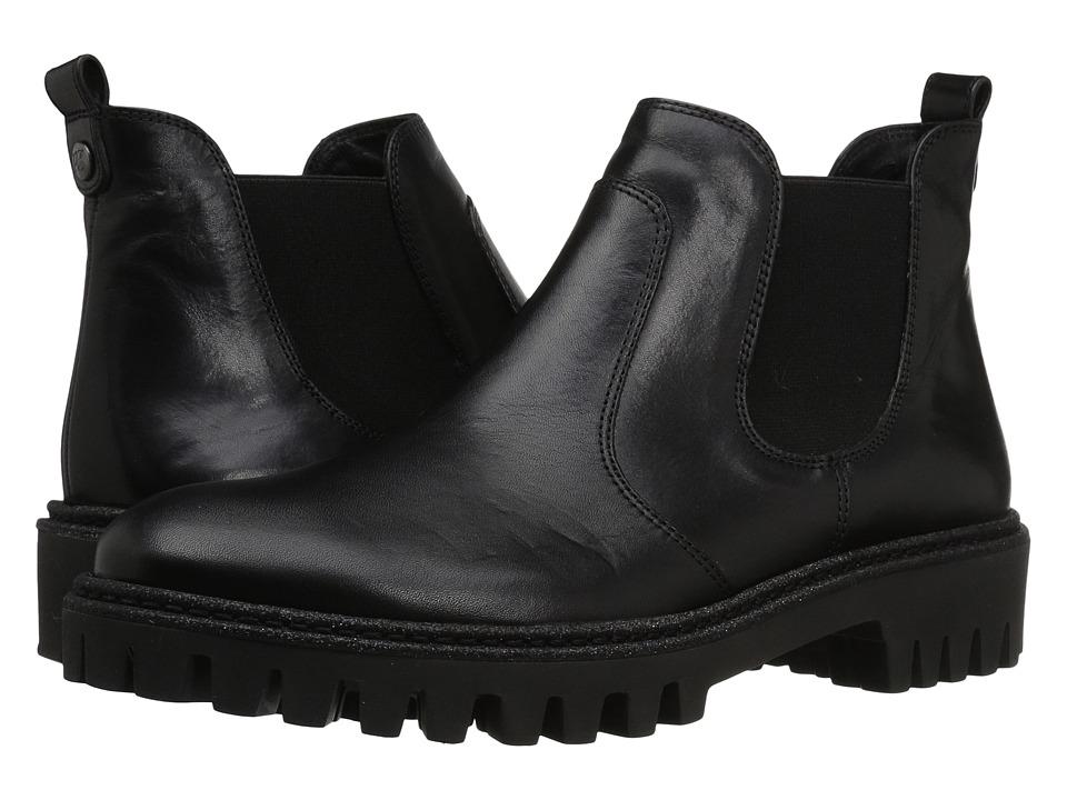 Paul Green Ozzie Boot (Black Sporty Leather) Women