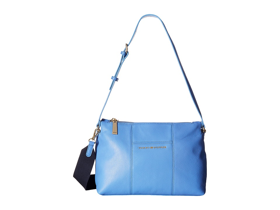Tommy Hilfiger - Pauletta Convertible Pebble Leather Hobo (Marina) Hobo Handbags