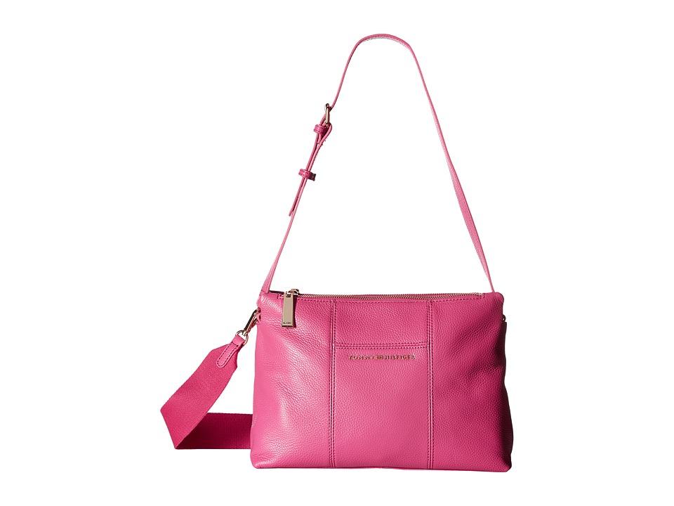 Tommy Hilfiger - Pauletta Convertible Pebble Leather Hobo (Geranium) Hobo Handbags
